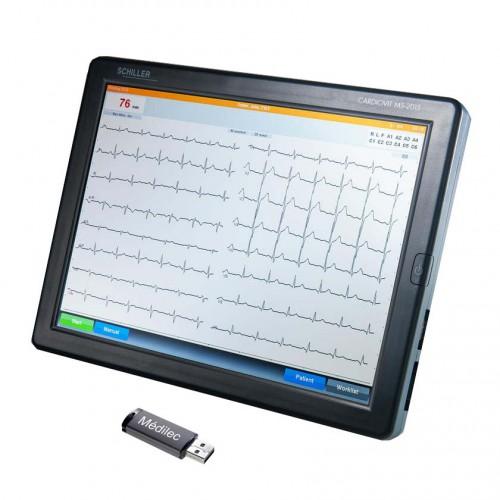 ECG Schiller Cardiovit MS-2015 S avec l'écran tactile et l'exportation en PDF