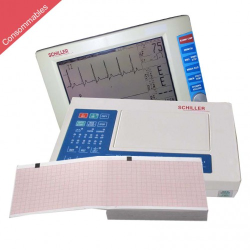 Papier pour ECG Schiller Cardiovit AT-3, AT-3/1 et ARGUS TM-7