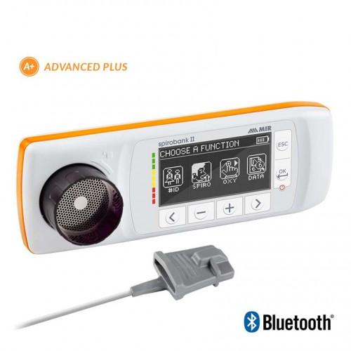 Spiromètre MIR Spirobank II Advanced Plus avec le capteur d'Oxymétrie