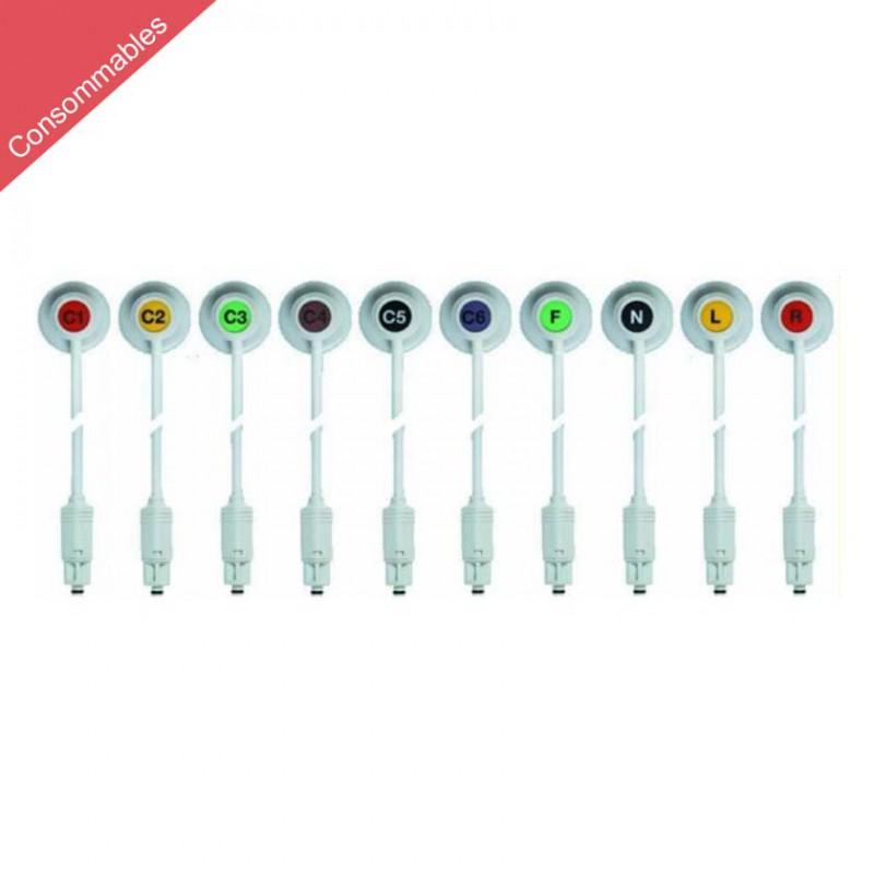 Câble d'electrodes à brancher pour Schiller DT-80 / DT-100